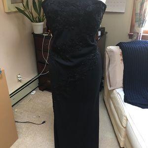 Vintage Elegant evening embroidered gown